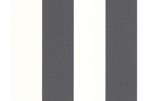 AS Création Streifentapete Black & White 3, Vliestapete, grau, weiß 179050 10,05 m x 0,53 m