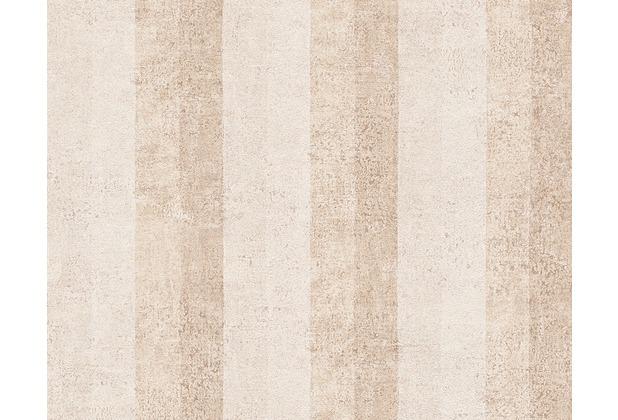 AS Création Streifentapete Bohemian Burlesque, Tapete, perlweiß, hellelfenbein, metallic 960785 10,05 m x 0,53 m