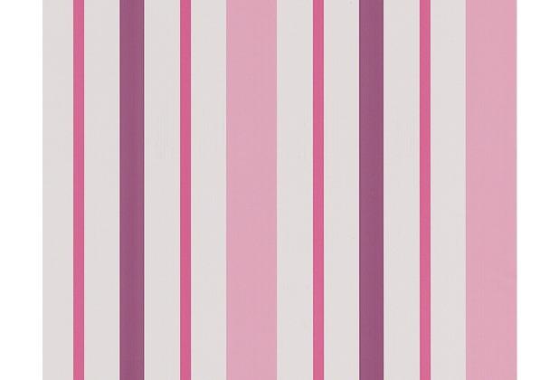 AS Création Streifentapete Boys & Girls 5, Papiertapete, rosa, lila, weiß 898319 10,05 m x 0,53 m