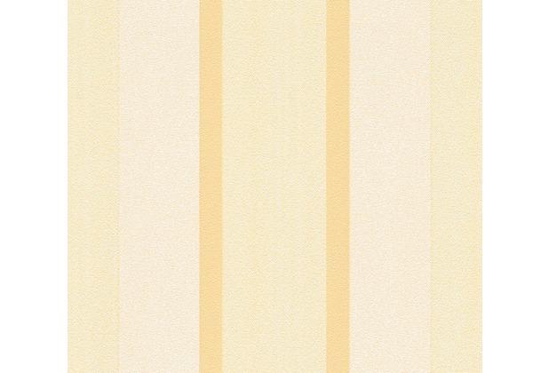 AS Création Streifentapete Essentials Vliestapete Tapete creme gelb 307164 10,05 m x 0,53 m