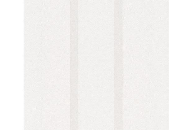 AS Création Streifentapete Essentials Vliestapete Tapete grau weiß 10,05 m x 0,53 m