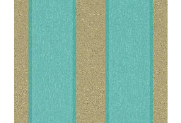 As cr ation streifentapete fleece royal tapete blau for Fleece tapete