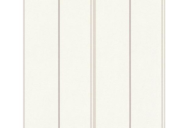 AS Création Streifentapete Happy Spring Vliestapete beige weiß 347691 10,05 m x 0,53 m