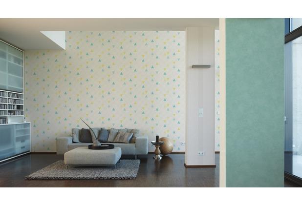 AS Création Streifentapete Happy Spring Vliestapete creme grau 10,05 m x 0,53 m