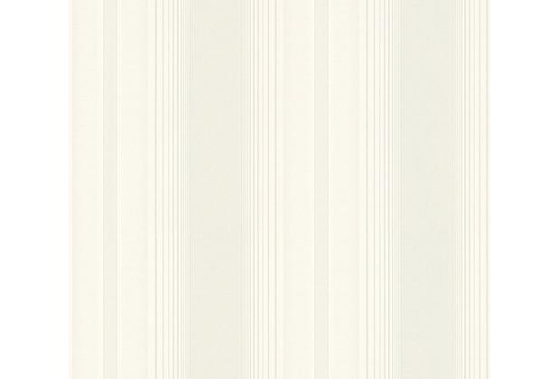 AS Création Streifentapete Hermitage 10 grau metallic weiß 330853 10,05 m x 0,53 m
