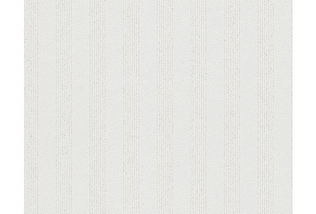AS Création Streifentapete mit Glitter Bling Bling, Vliestapete, weiß 315113 10,05 m x 0,53 m