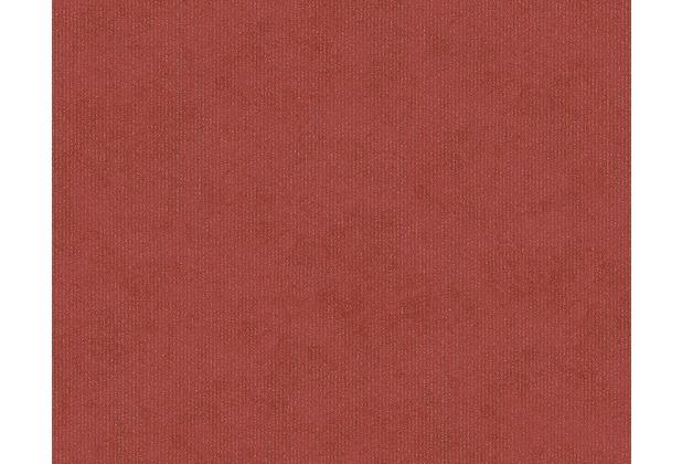 AS Création Unitapete Memory 3 Vliestapete metallic rot 125828 10,05 m x 0,53 m