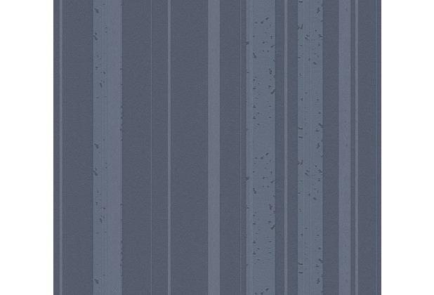 AS Création Streifentapete New Look Vliestapete blau grau metallic 327695 10,05 m x 0,53 m