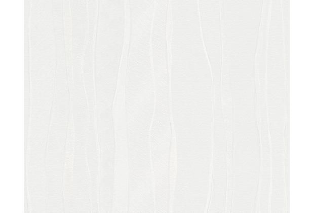 AS Création Streifentapete OK 5, Vliestapete, weiss 935291 10,05 m x 0,53 m