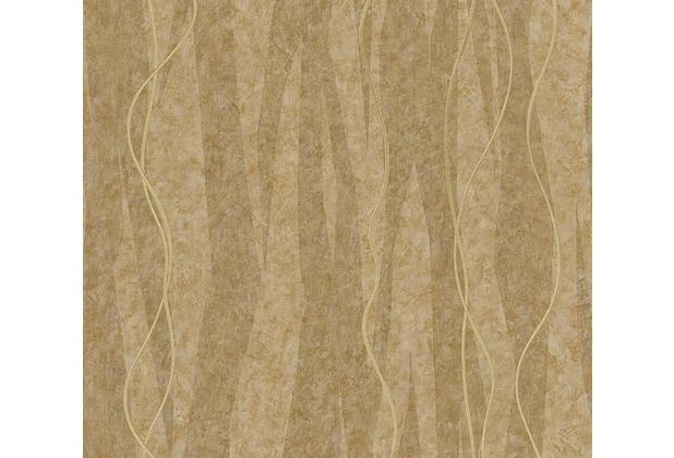 AS Création Streifentapete Siena Tapete braun metallic 329991 10,05 m x 0,53 m