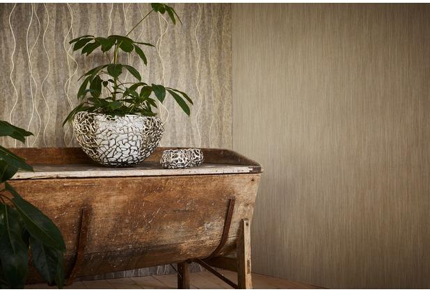 AS Création Streifentapete Siena Tapete braun metallic 10,05 m x 0,53 m