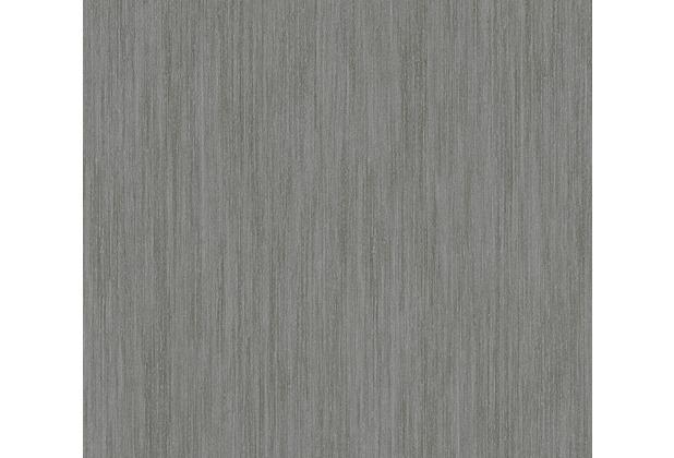 AS Création Streifentapete Siena Tapete grau metallic schwarz 328834 10,05 m x 0,53 m