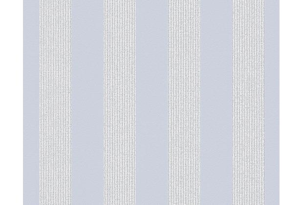 AS Création Streifentapete Smooth, Vliestapete, blau, grau 302376 10,05 m x 0,53 m
