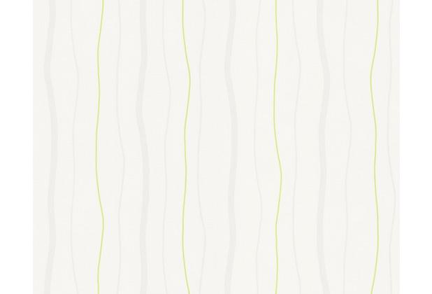 AS Création Streifentapete, Vliestapete, grün,creme 249524 10,05 m x 0,53 m
