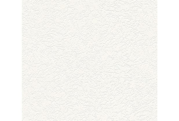 AS Création Strukturtapete Essentials Vliestapete Tapete weiß 322319 10,05 m x 0,53 m