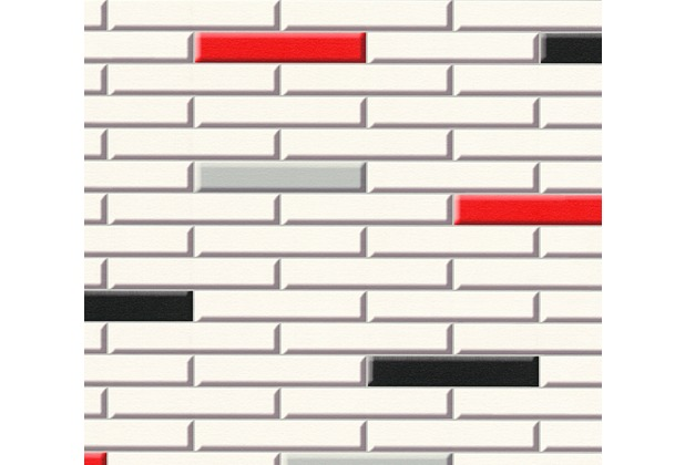 AS Création Tapete Il Decoro  in Klinker Optik creme rot schwarz 342783 10,05 m x 0,53 m
