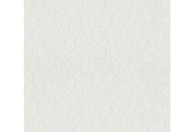 AS Création Vliestapete Meistervlies Tapete mit Kreisen überstreichbar weiß 965912