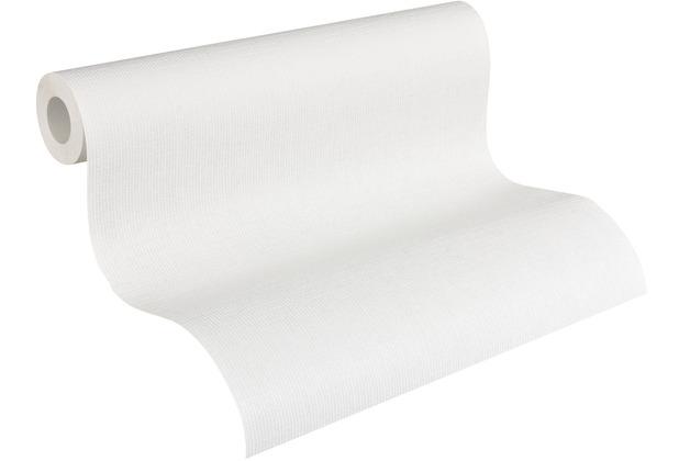 AS Création Vliestapete Meistervlies Strukturtapete überstreichbar weiß 307514