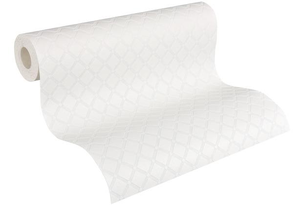 AS Création Vliestapete Meistervlies geometrische Tapete überstreichbar weiß 528117