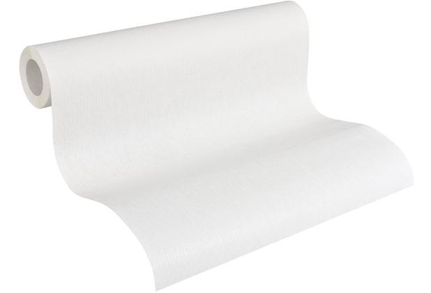 AS Création Vliestapete Meistervlies Strukturtapete überstreichbar weiß 571113