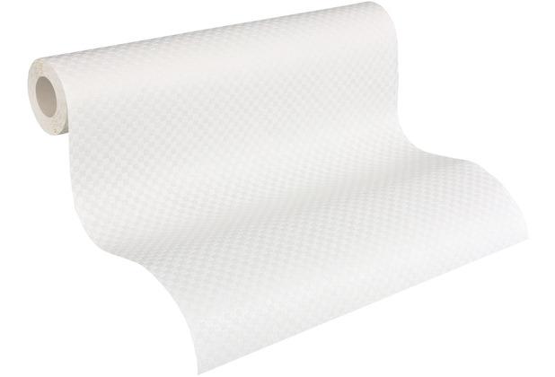 AS Création Vliestapete Meistervlies Tapete in 3D Optik überstreichbar weiß 934651