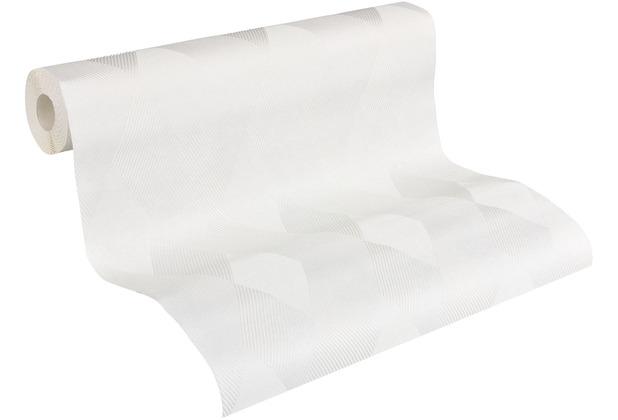AS Création Vliestapete Meistervlies geometrische Tapete überstreichbar weiß 956851