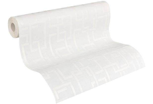 AS Création Vliestapete Meistervlies geometrische Tapete überstreichbar weiß 962416