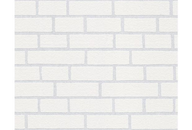AS Création überstreichbare Vliestapete Meistervlies 4 GO, weiß 245311 - Maueroptik