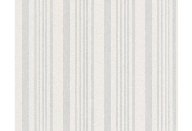 AS Création überstreichbare Vliestapete Meistervlies 4 GO, weiß 571014 - Streifenmuster