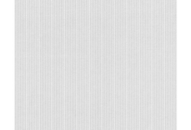 AS Création überstreichbare Vliestapete Meistervlies 4 GO, weiß 644916 - diskrete Streifen