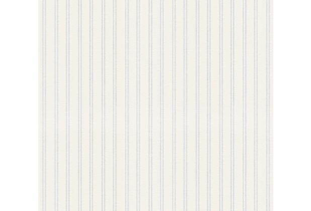 AS Création Vliestapete Meistervlies Streifentapete überstreichbar weiß 243614