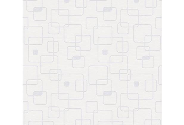 AS Création Vliestapete Meistervlies geometrische Tapete überstreichbar weiß 247315