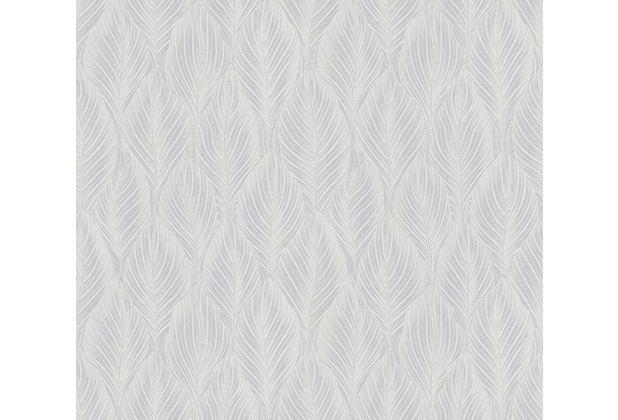 AS Création Vliestapete Meistervlies Tapete mit Federn überstreichbar weiß 250919
