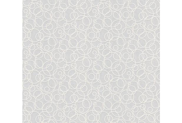 AS Création Vliestapete Meistervlies Tapete mit Kreisen überstreichbar weiß 519214