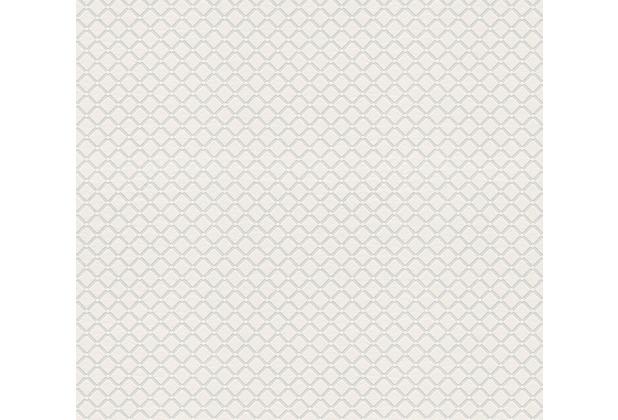AS Création Vliestapete Meistervlies geometrische Tapete überstreichbar weiß 528018
