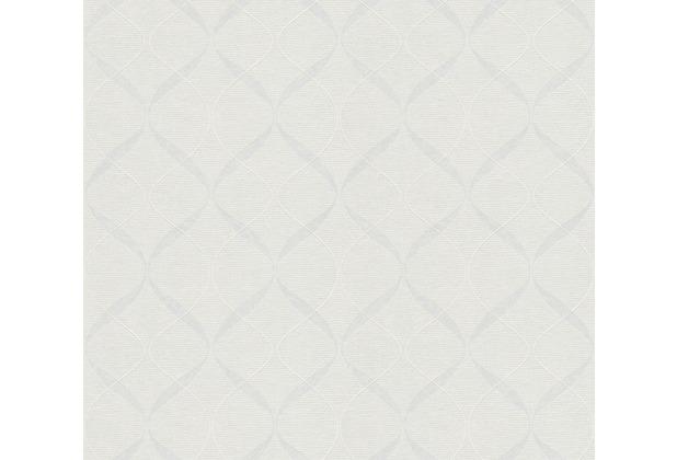 AS Création Vliestapete Meistervlies grafische Tapete überstreichbar weiß 938651