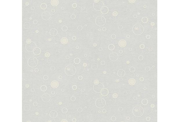 AS Création Vliestapete Meistervlies Tapete mit Kreisen überstreichbar weiß 949011