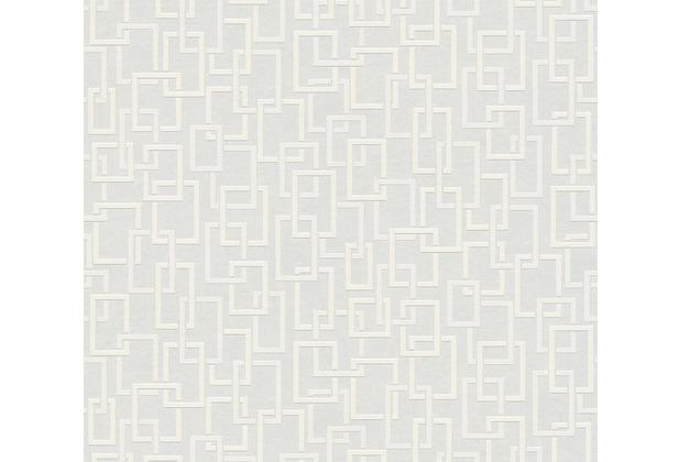 AS Création Vliestapete Meistervlies geometrische Tapete überstreichbar weiß 950017