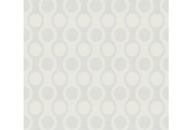 AS Création Vliestapete Meistervlies Tapete mit Kreisen überstreichbar weiß 950116