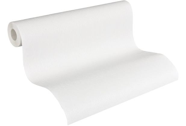 AS Création Vliestapete Meistervlies Strukturtapete überstreichbar weiß 241511