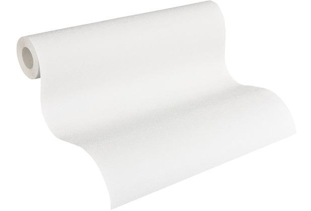 AS Création Vliestapete Meistervlies Strukturtapete überstreichbar weiß 245816
