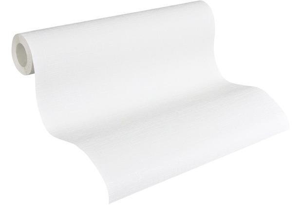 AS Création Vliestapete Meistervlies Strukturtapete überstreichbar weiß 250513