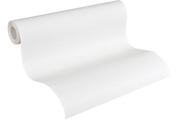 AS Création Vliestapete Meistervlies Strukturtapete überstreichbar weiß 563019