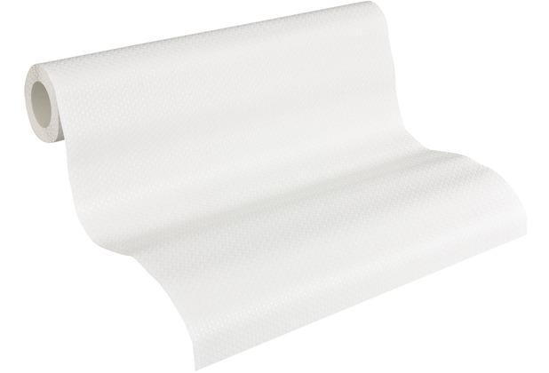 AS Création Vliestapete Meistervlies Strukturtapete überstreichbar weiß 935271