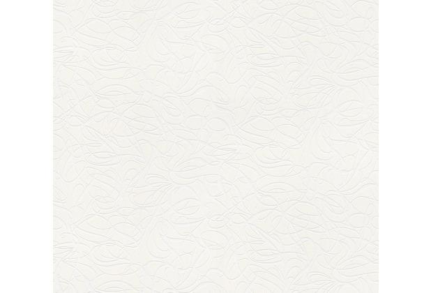 AS Création Vliestapete Meistervlies grafische Tapete überstreichbar weiß 242716