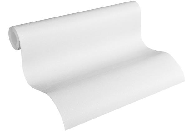 AS Création Vliestapete Meistervlies Strukturtapete überstreichbar weiß 320011 10,05 m x 0,53 m