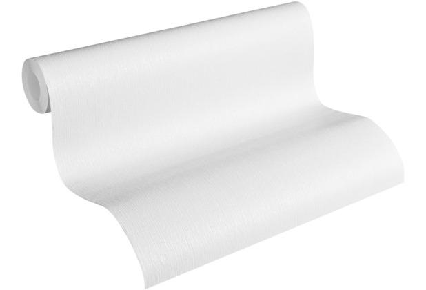 AS Création Vliestapete Meistervlies Strukturtapete überstreichbar weiß 320021 10,05 m x 0,53 m