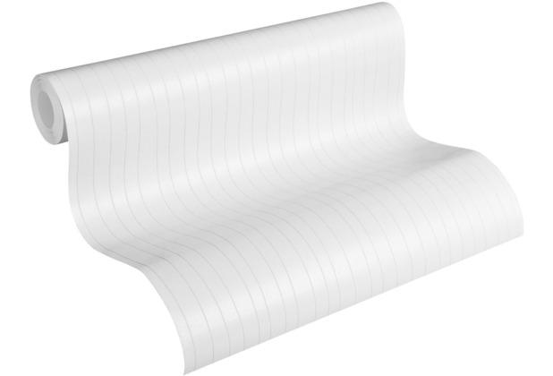 AS Création Vliestapete Meistervlies Streifentapete überstreichbar weiß 320041 10,05 m x 0,53 m