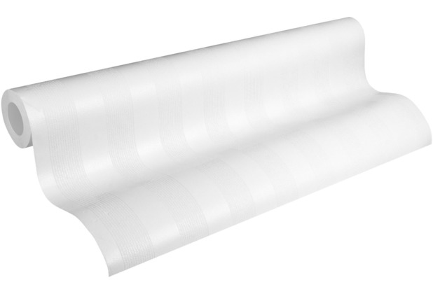 AS Création Vliestapete Meistervlies Blockstreifentapete überstreichbar weiß 320091 25,00 m x 1,06 m