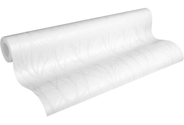 AS Création Vliestapete Meistervlies Tapete mit Ästen überstreichbar weiß 321114 25,00 m x 1,06 m